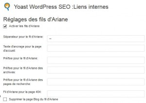fil ariane wordpress