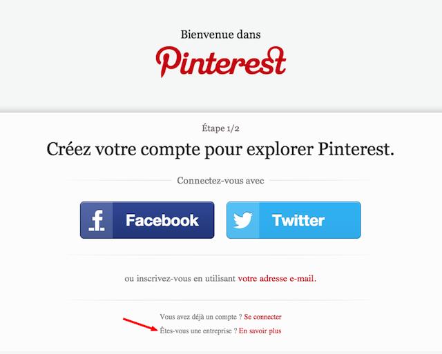 Pinterest  connexion
