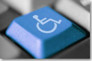 Image représentant une touche de clavier spéciale accessibilité.